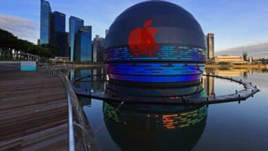 Photo of A floating store by Apple in Singapore